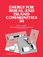 Energy for Rural and Island Communities III