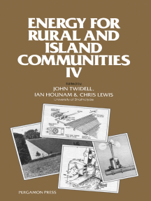 Energy for Rural and Island Communities: Proceedings of the Fourth International Conference Held at Inverness, Scotland, 16–19 September 1985