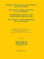 Energy Balances and Energy Accounting