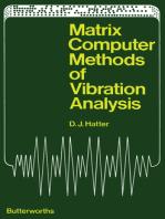 Matrix Computer Methods of Vibration Analysis