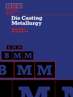 Die Casting Metallurgy: Butterworths Monographs in Materials