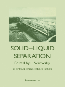 Solid–Liquid Separation: Chemical Engineering Series