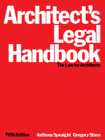 Architect's Legal Handbook: The Law for Architects