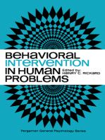 Behavioral Intervention in Human Problems: Pergamon General Psychology Series