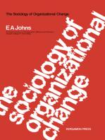 The Sociology of Organizational Change