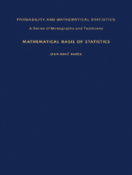 Mathematical Basis of Statistics: Probability and Mathematical Statistics: A Series of Monographs and Textbooks