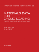 Materials Data for Cyclic Loading: Cast and Welded Metals