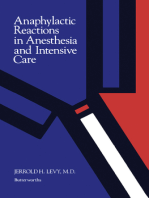 Anaphylactic Reactions in Anesthesia and Intensive Care