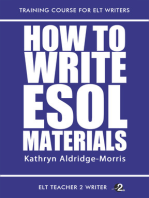 How To Write ESOL Materials