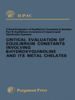Critical Evaluation of Equilibrium Constants Involving 8-Hydroxyquinoline and Its Metal Chelates