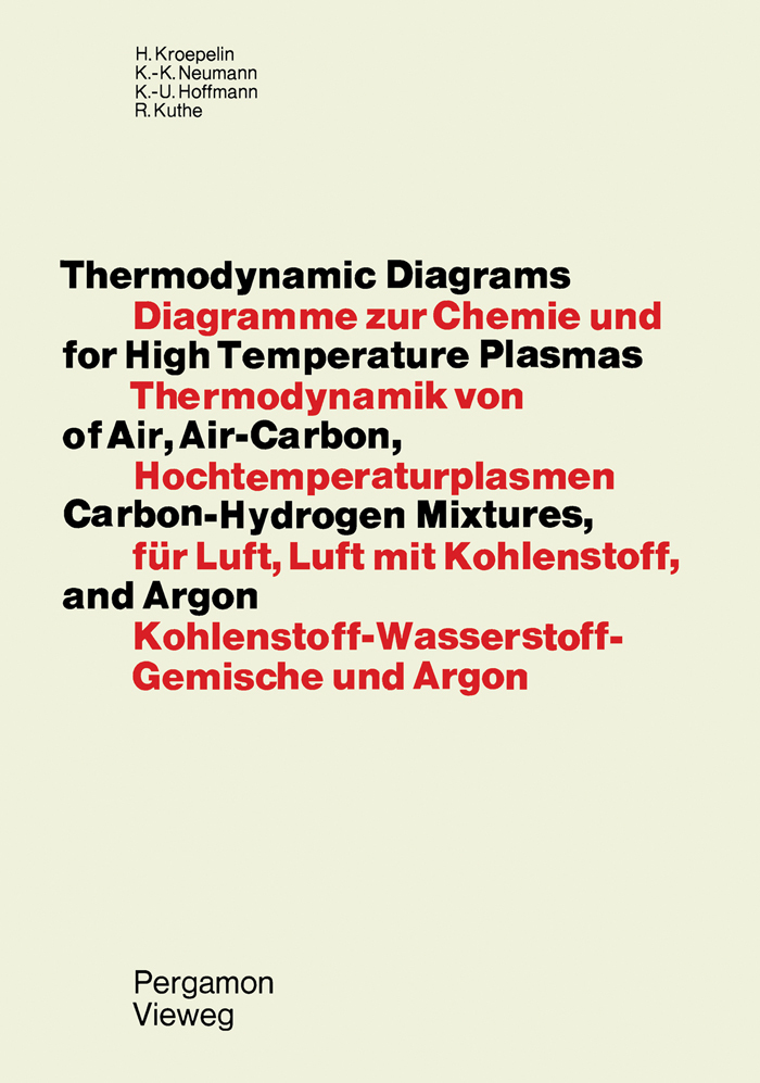 Thermodynamic Diagrams For High Temperature Plasmas Of Air