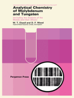 Analytical Chemistry of Molybdenum and Tungsten