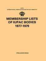Membership Lists of IUPAC Bodies 1977-1979