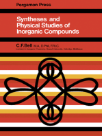Syntheses and Physical Studies of Inorganic Compounds