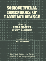 Sociocultural Dimensions of Language Change
