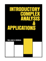 Introductory Complex and Analysis Applications