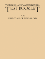 Test Booklet for Essentials of Psychology: Houston/Bee/Hatfield/Rimm