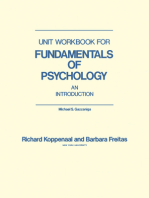 Unit Workbook for Fundamentals of Psychology
