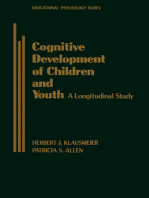 Cognitive Development of Children and Youth: A Longitudinal Study