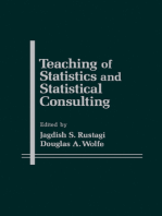 Teaching of Statistics and Statistical Consulting