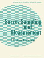 Survey Sampling and Measurement