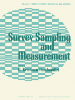 Survey Sampling and Measurement