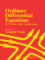 Ordinary Differential Equations: 1971 NRL—MRC Conference