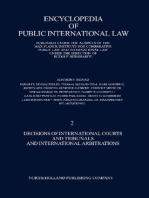 Decisions of International Courts and Tribunals and International Arbitrations