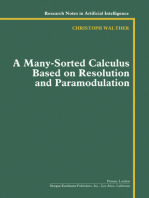 A Many-Sorted Calculus Based on Resolution and Paramodulation