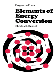 Elements of Energy Conversion