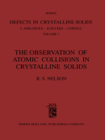 The Observation of Atomic Collisions in Crystalline Solids