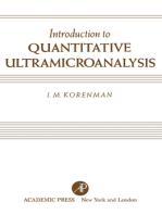 Introduction to Quantitative Ultramicroanalysis