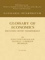 Glossary of Economics: Including Soviet Terminology