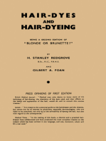 Hair-Dyes and Hair-Dyeing Chemistry and Technique