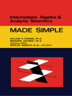 Intermediate Algebra & Analytic Geometry