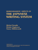 Neurolinguistic Aspects of the Japanese Writing System