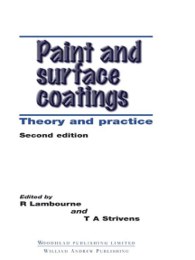 Paint and Surface Coatings: Theory and Practice