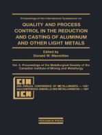 Proceedings of the International Symposium on Quality and Process Control in the Reduction and Casting of Aluminum and Other Light Metals, Winnipeg, Canada, August 23–26, 1987