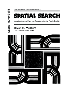 Spatial Search: Applications to Planning Problems in the Public Sector