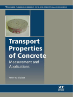Transport Properties of Concrete: Measurements and Applications