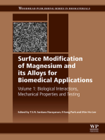 Surface Modification of Magnesium and its Alloys for Biomedical Applications: Biological Interactions, Mechanical Properties and Testing