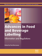 Advances in Food and Beverage Labelling: Information and Regulations