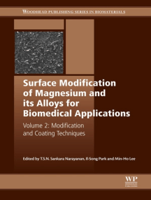 Surface Modification of Magnesium and its Alloys for Biomedical Applications: Modification and Coating Techniques