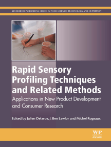 Rapid Sensory Profiling Techniques: Applications in New Product Development and Consumer Research