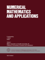 Numerical Mathematics and Applications