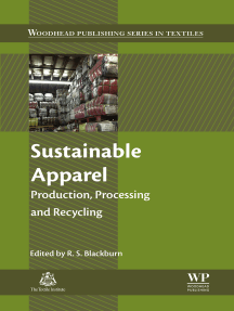 Sustainable Apparel: Production, Processing and Recycling
