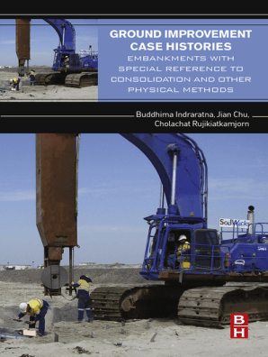 Ground improvement case histories : compaction, grouting, and geosynthetics