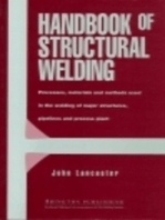 Handbook of Structural Welding