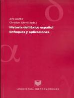 Historia del léxico español: Enfoques y aplicaciones.