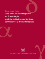 Diez años de investigaciones en fraseología